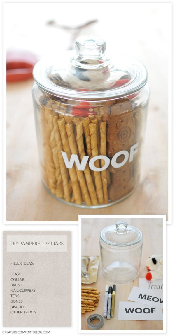 I have this with my cats food. I think I'll put a decal on the jar saying meow instead of woof. Cute idea! Thinking about selling? LystHouse is the simple way to buy or sell your home. Visit  http://www.LystHouse.com to maximize your ROI on your home sale.