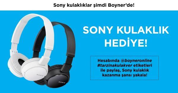 Yılbaşı hediyen Boyner'den olsun! boyneronline instagram hesabını takip et, #tarzinakulakver Sony kulaklık kazan #ad