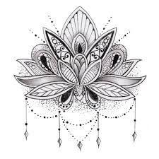 Lace Lotus Tattoo