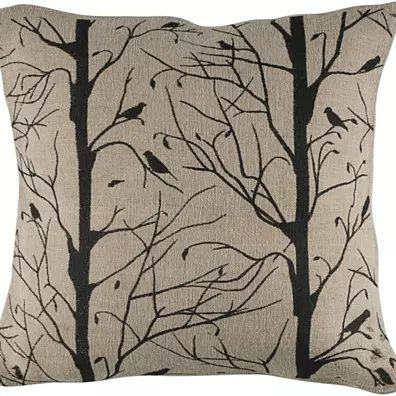 """Printed Pattern Natural Pillow Cover (18"""" x 18"""")"""