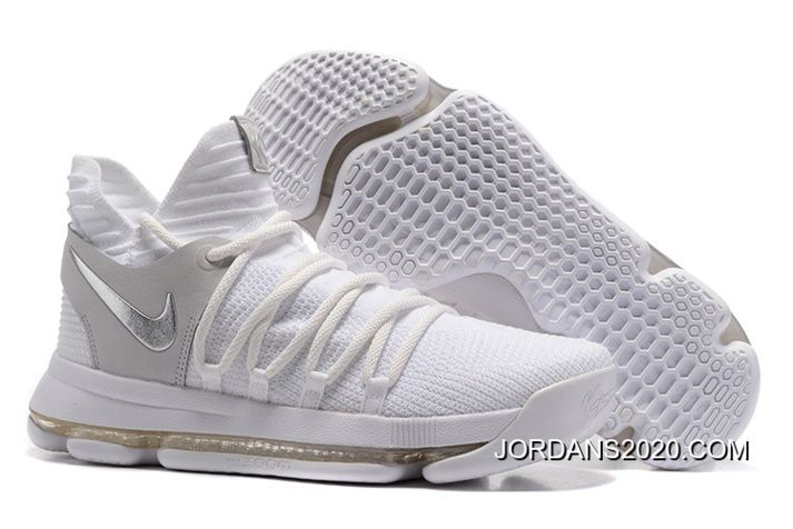 Top Rated Basketball Shoes 2020.Nike Kd 10 Still Kd White Chrome Pure Platinum Outlet In 2019