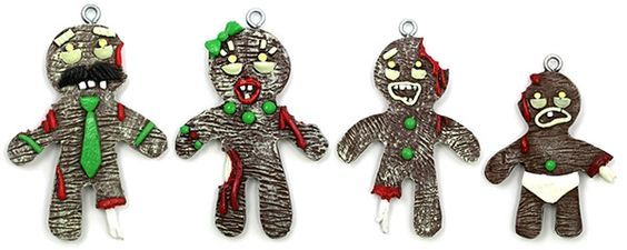 Gingerbread Zombie Christmas Ornaments....Getting them and having a zombie deadmas next year!