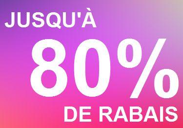 JUSQU'À 50% DE RABAIS