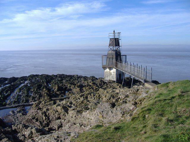 "Battery Point, Portishead, Somerset At first site, not the most appealing lighthouse, but it is endangered and the last of its type to still be around, but maybe not for much longer.          Current lighthouse built: 1930, replaced fog bell. Geographic Position: 51° 29"" 38'  -2° 46"" 23'"