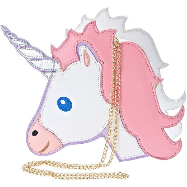 Nila Anthony Unicorn Bag found on Polyvore featuring bags, handbags, shoulder bags, faux leather crossbody, long purses, faux leather purse, over the shoulder bag and cross body
