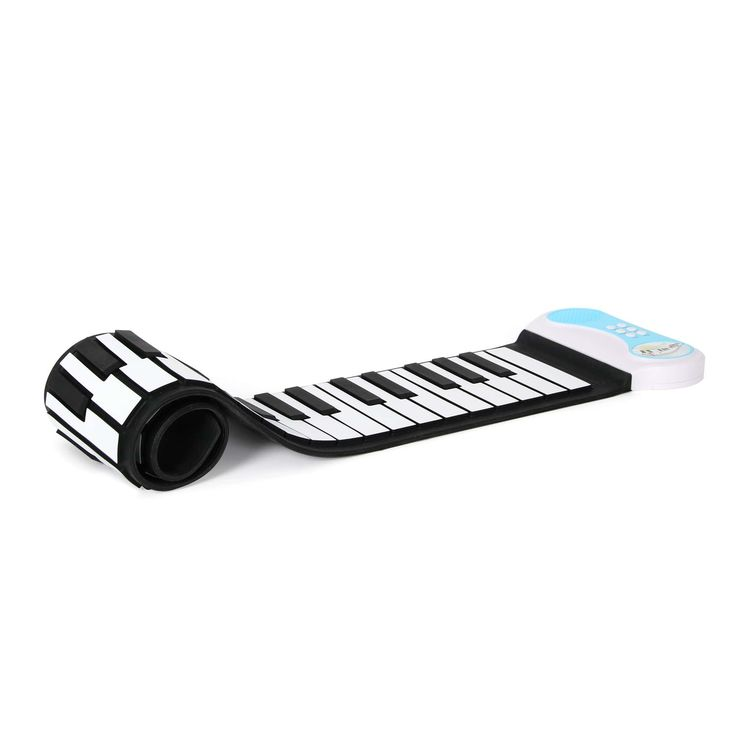 Excellent jouet pour tous les musiciens en herbe, ce clavier de piano souple en silicone comporte 49 touches avec 8 tonalités différentes. Il est possible d'enregistrer les chansons et de les faire jouer par la suite, pour des heures de plaisir.
