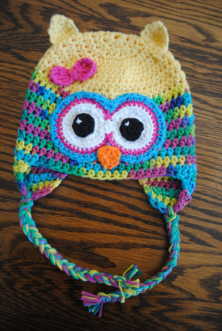 Cute Crochet Owl Hat Pattern. From cre8tioncrochet. OH MY GOSH!!! this is DARLING!!! Patter shows different sizes too. Thanks for share!**