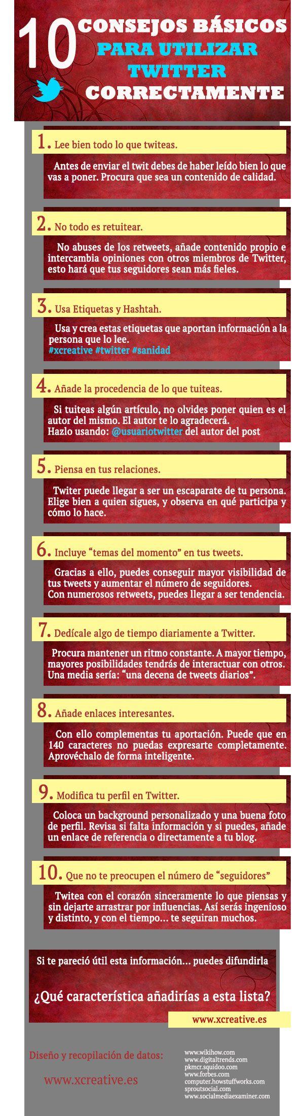 10 Consejos Basicos para Utilizar #Twitter Correctamente
