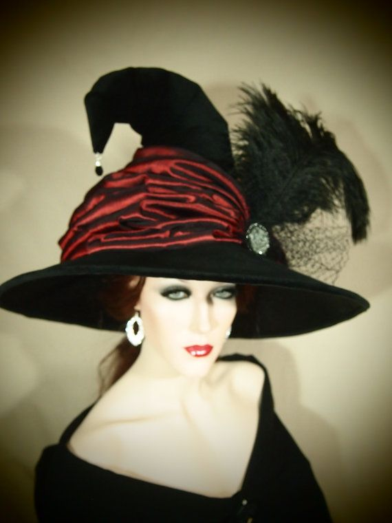 Couture Witch Hat Godrics Girl by EvercrumblyAndWitch on Etsy