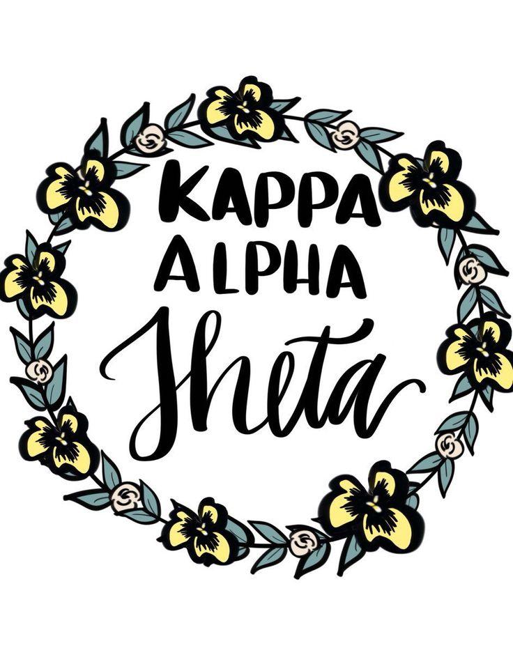 Kappa Alpha Theta wreath by ShenaniDesigns on Etsy