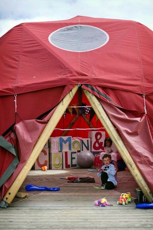 Childrens wedding tent – photography http://www.mark-tattersall.co.uk/