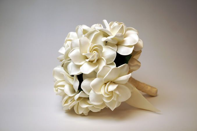 Valley of Lily and Gardenia Wedding Bouquet