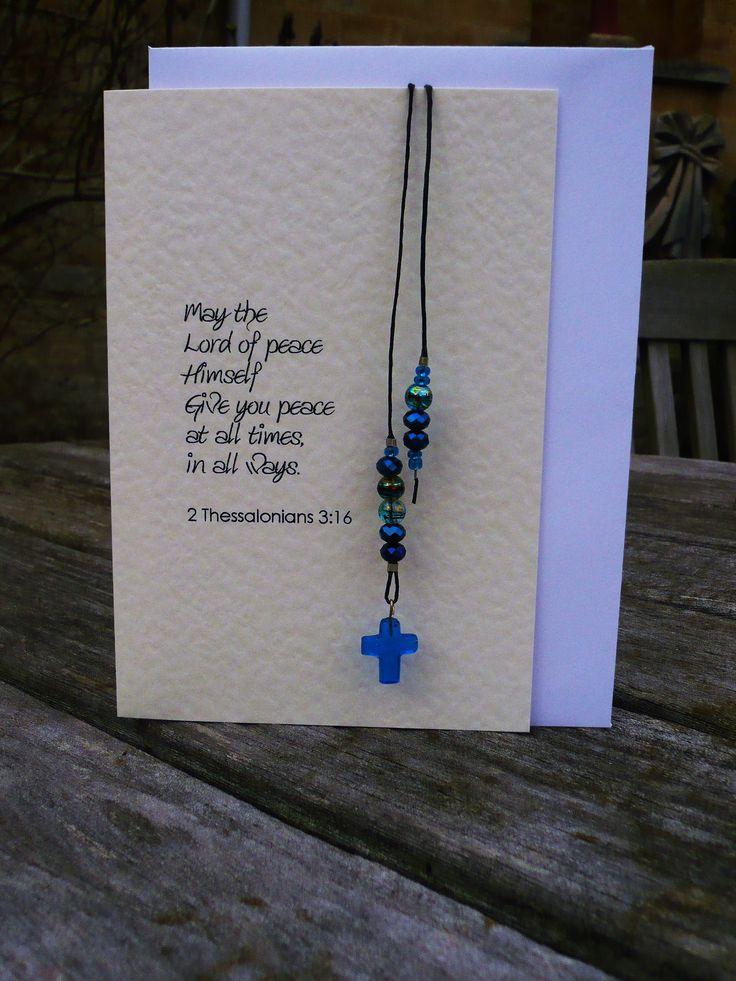 Handmade Beaded Bookmark Card £3.75 plus postage email: miriam.birgitte@turveyabbey.org.uk