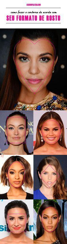 Como fazer a maquiagem de contorno de acordo com o formato do seu rosto