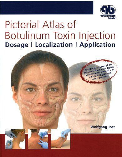 Pictorial Atlas of Botulinum Toxin Injection: Dosage, Localization, Application #book #health http://www.healthbooksshop.com/pictorial-atlas-of-botulinum-toxin-injection-dosage-localization-application-4/ Pictorial Atlas of Botulinum Toxin Injection: Dosage, Localization, Application This comprehensive atlas presents all of the information necessary for use of botulinum toxin, including dosage, muscle action, localization, and injection technique. A unique book that is ideal for clin..