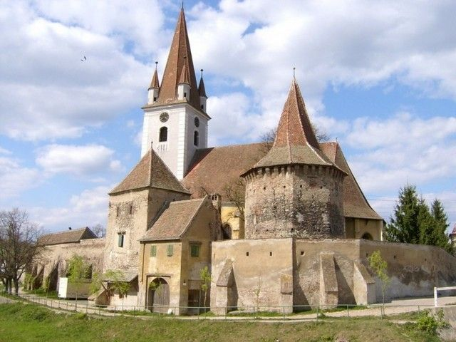 The most beautiful pictures of Romania: Fortified church of St. Sevastius. Cristian, Sibiu