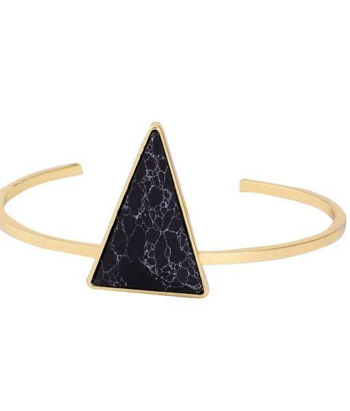 Bracelet géométrique triangle noire