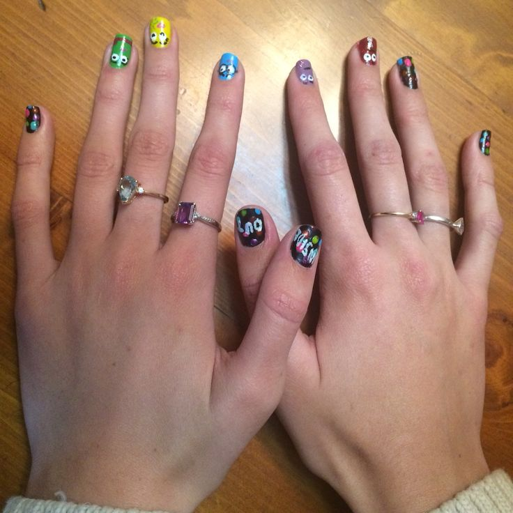 Inside out inspired nails #bestmovie