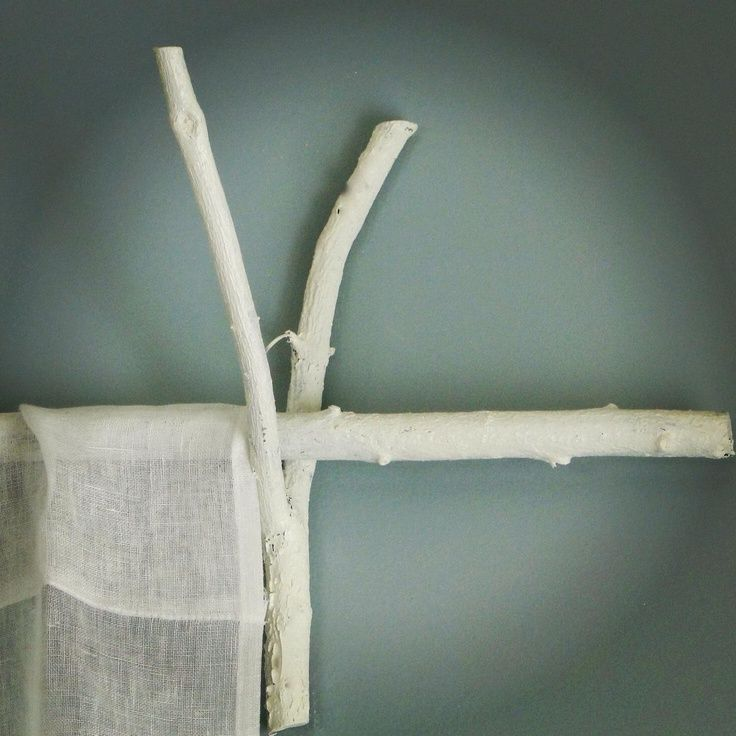 twig curtain rod art of nesting pinterest
