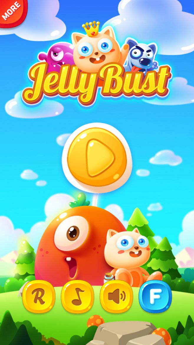 Jelly Bust #ui #game #design #art
