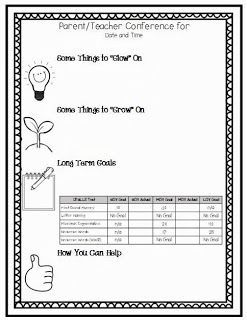 {FREEBIE} Editable Parent Teacher Conference Sheet ***Microsoft Publisher Needed***