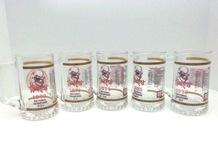 Nebraska Cornhuskers National Championship Beer Mug NCAA Football Holiday Gift #Phillips66 #NebraskaCornhuskers