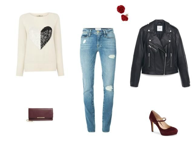 Valentine's Day Style: 10 Outfit Ideas With Jeans: Casual Daytime Valentine's Day Date