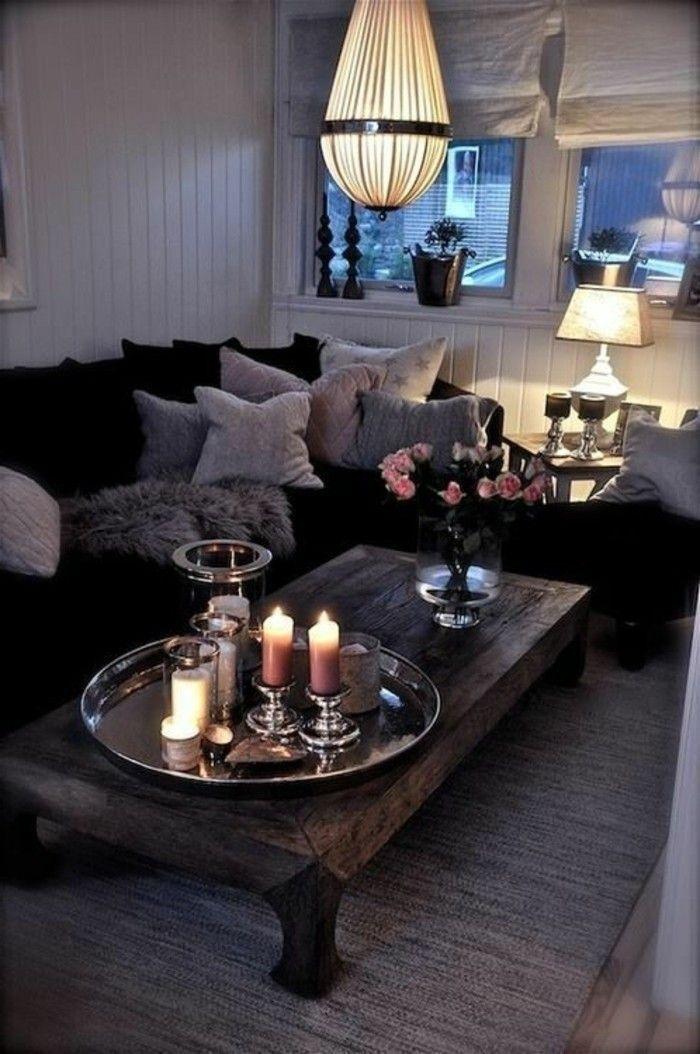 Einladendes Wohnzimmer dekorieren Ideen und Tipps Kerzen