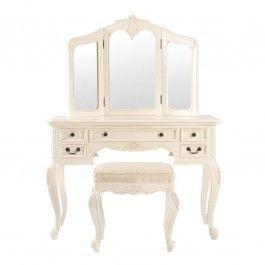 Rococo Parisienne Cream Dressing Table