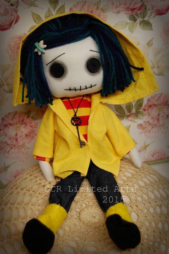 Coraline Button Eye Doll Inspired  Coraline by OCRLimitedArts