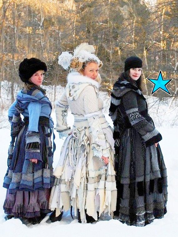 We love upcycled - and these statement coats take upcycling to the next level.   Not sure how they'd play out on Moffat High Street, but at least it gets us in touch with our inner Anna Karenina!  These are by Katwise Sweaters and sold through the amazing etsy.com. Fancy making one yourself - etsy also sell a tutorial:  http://www.etsy.com/listing/57955143/upcycled-sweater-tutorial-by-katwise-elf