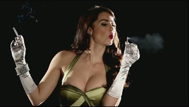 Tanit Phoenix smoking