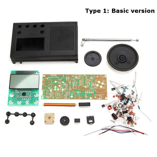 Geekcreit® DIY 3V FM Radio Kit Electronic Learning Suite Frequency Range 72MHz-108.6MHz
