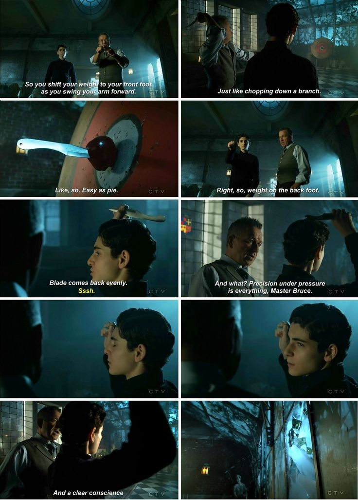 Alfred, please, be quiet XD #bruce #alfred #batman #gotham 3x15