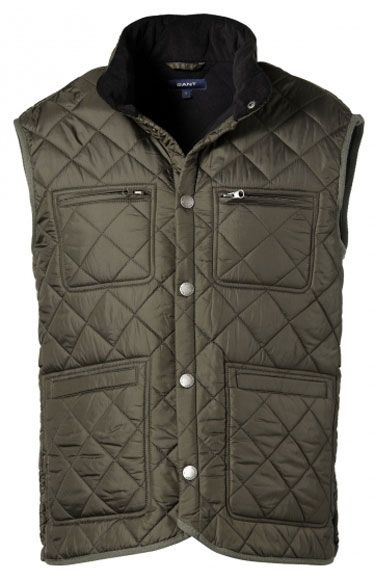 "Time to adopt the San Francisco mens ""business casual"" look!  Puffer vest by Gant."