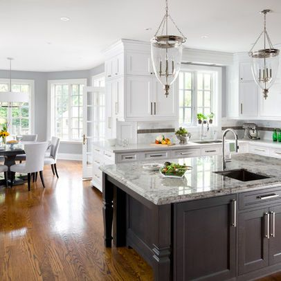 Great color combo with wood flooring walls coventry gray for Benjamin moore oxford white kitchen cabinets