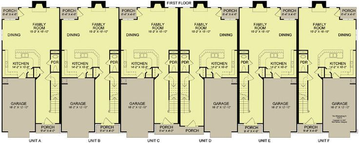 6 plex 4 main apartment house plan ideas pinterest for Fha house plans