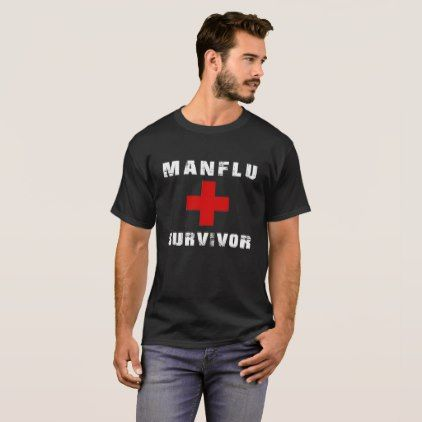 Man Flu Quote Survivor T-Shirt - fathers day best dad diy gift idea cyo personalize father family