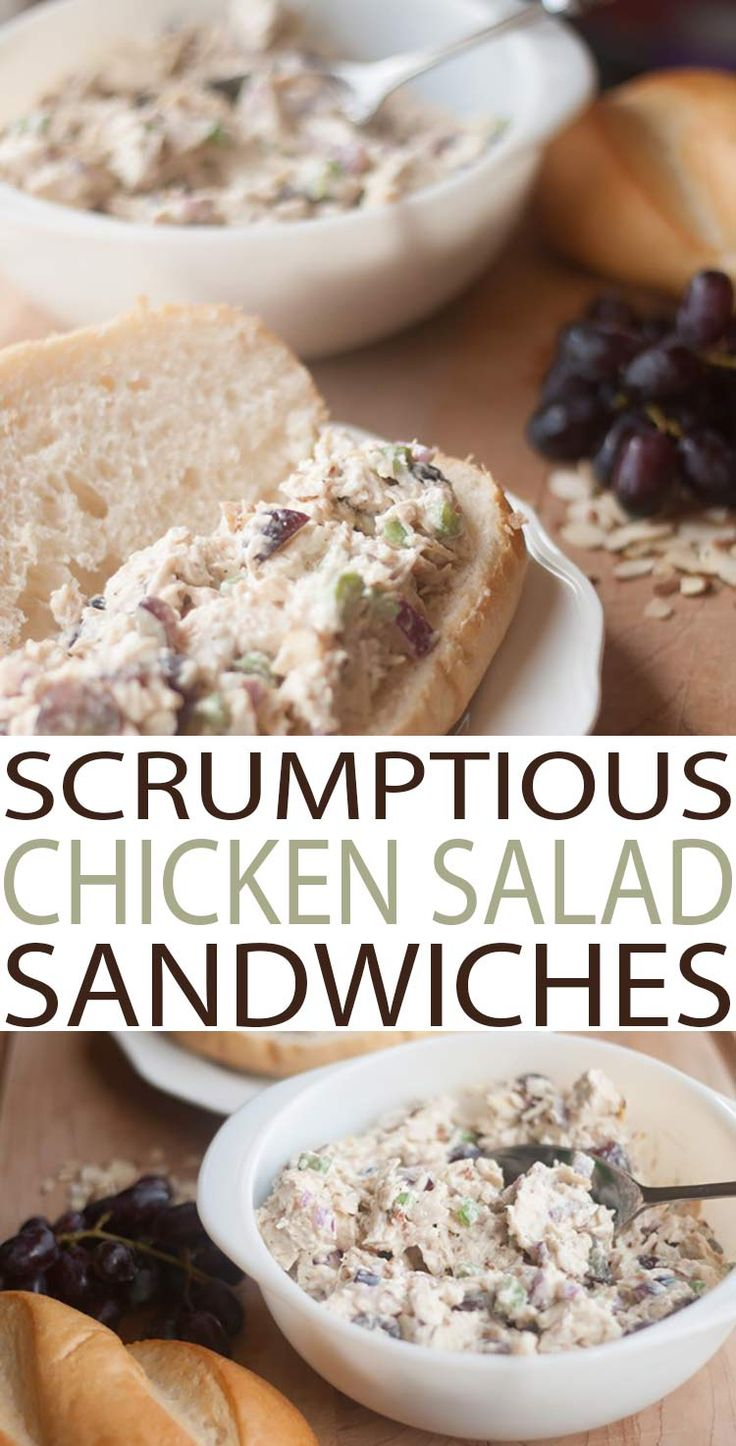 Chicken Salad Sandwiches with this scrumptious chicken salad recipe is the best recipe out there. It's so easy to make with fresh ingredients. Winning lunch recipe.