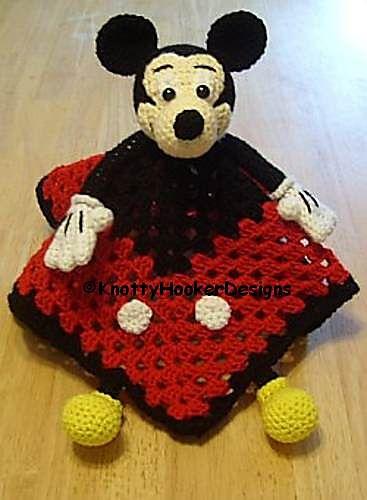 Ravelry Mickey Amp Minnie Lovey Blankies Pattern By Knotty