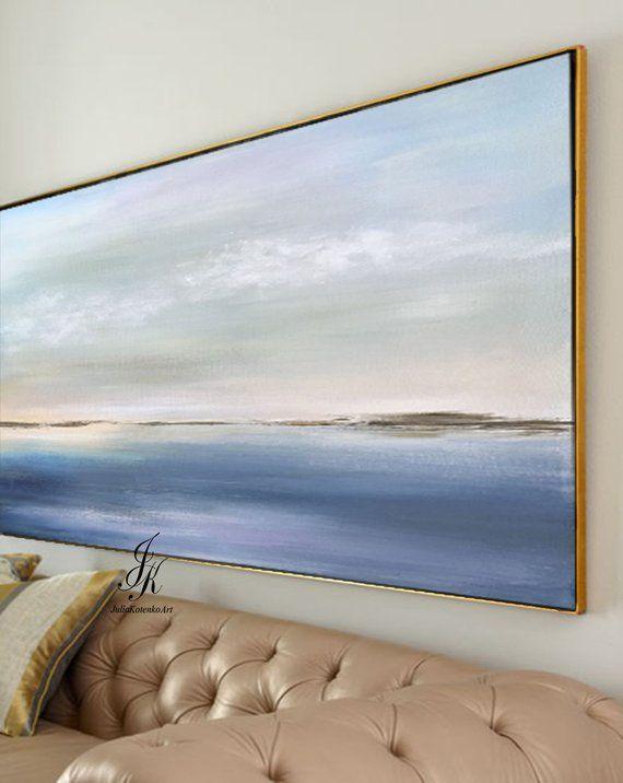 Landscape Abstract Acrylic Painting Landscape Art Wall Art On Canvas Wall Decor Modern Art Landscape Painting On Canvas by Julia Kotenko