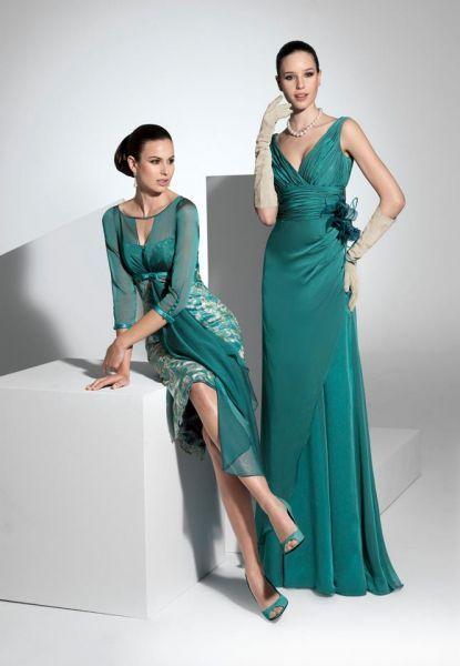 Los estampados florales y las bordados de petalos son algunas de las caracterisitcas principales de la coleccion. Vestidos Madrinas 2013 Franc Sarabia.