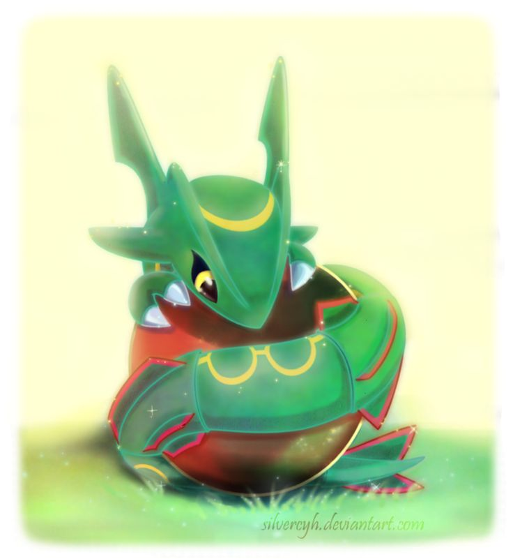 Such a cute baby Rayquaza. I wish there were babies in pokemon. Imagine growlithe lvl 1. Not even having his eyes open yet. :)