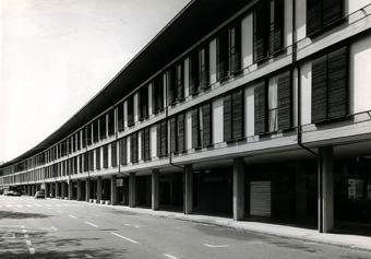 """Bologna, Via della Barca (1957), """"il Treno"""" Giuseppe Vaccaro"""