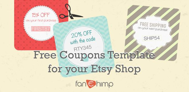 How To Create Coupon Codes On Etsy + 22 Coupon Templates Available   Free  Templates For  Discount Coupons Templates