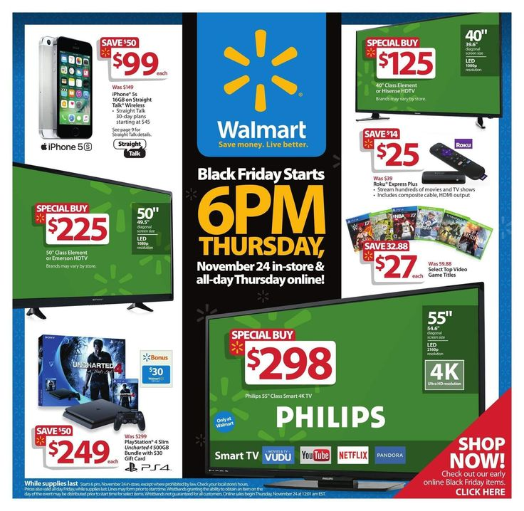Walmart Black Friday 2016 Ad Page 1