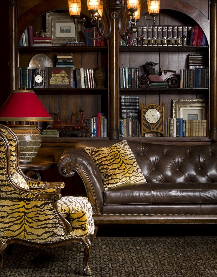 72 best images about leather chesterfield sofa on pinterest - Chesterfield sofa living room ideas ...