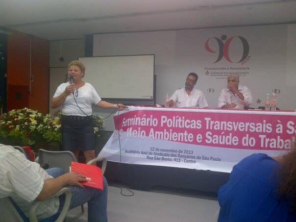 APRESENTAÇÃO EM POWER POINT PARA A PARTICIPAÇÃO DO PRESIDENTE DO SINDSAÚDE-SP, NO SEMINÁRIO DE POLÍTICAS DA SAÚDE DO TRABALHADOR