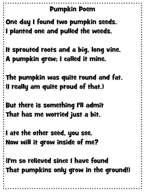 18. Pumpkin Poem - These Poems For Kids Are Funny and Sweetest_18