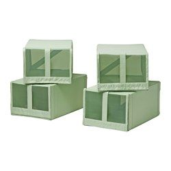 "SKUBB shoe box, light green Width: 8 ¾ "" Depth: 13 ½ "" Height: 6 ¼ "" Width: 22 cm Depth: 34 cm Height: 16 cm"